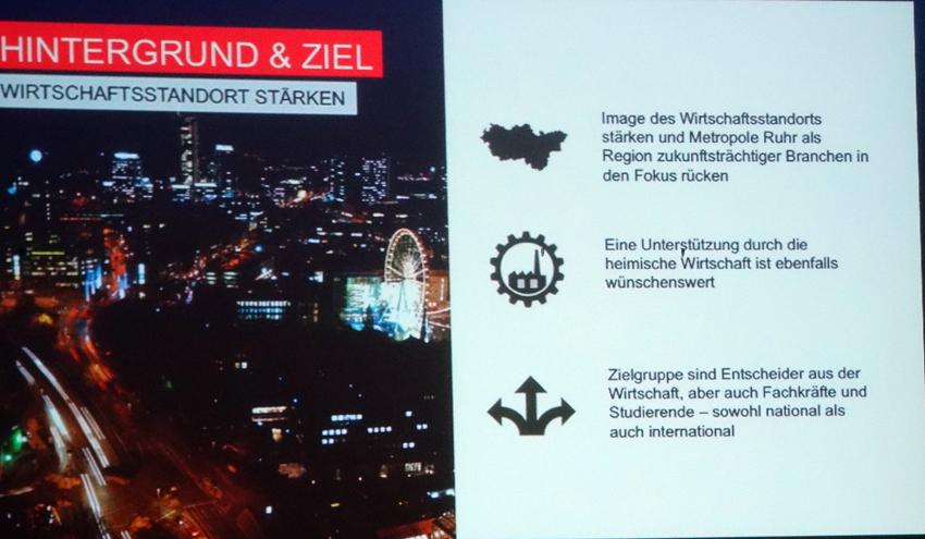 Standortkampagne der Wirtschaftsförderung metropoleruhr GmbH (wmr). Foto: Petra Grünendahl.