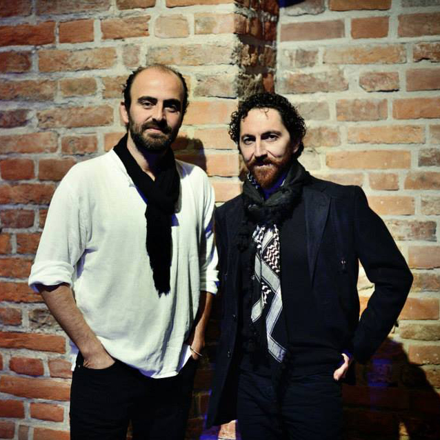 Die Künstler: Kinan Azmeh (Klarinette) und Kevork Mourad (Bildender Künstler). Foto: Ingrid Töteberg.