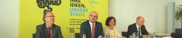 """Leitbildentwicklung in Duisburg im Bürgerdialog: """"Ihre Ideen, unsere Stadt"""""""