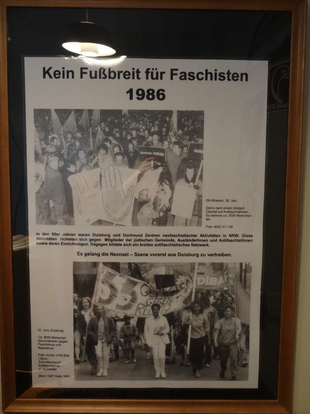Kein Fußbreit für Faschisten: 1986. Foto: Petra Grünendahl.