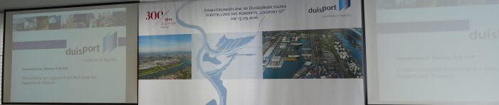 Walsum: Duisburger Hafen AG plant logport VI am Standort der ehemaligen Papierfabrik