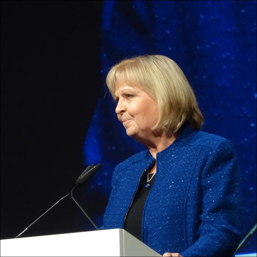 Ministerpräsidentin Hannelore Kraft beim Festakt zum 300-jährigen Hafenjubiläum. Foto: Petra Grünendahl.