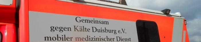 Gemeinsam gegen Kälte Duisburg e. V. stellt mit Medizinbus ärztliche Versorgung Obdachloser neu auf