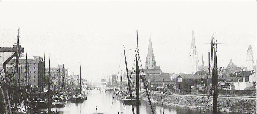 Der Innenhafen war mal der Brotkorb des Feviers. Foto: Duisbrger Hafen AG.