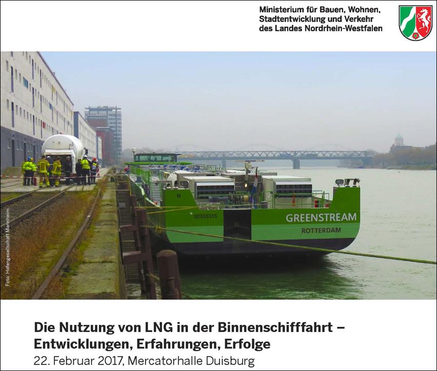 Die Güterschiffen GreenStream und Green Rhine sind auf dem Rhein mit LNG unterwegs.