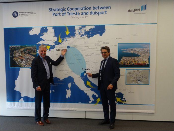 Duisburger Hafen: Enge Kooperation mit Triest für den Chinahandel