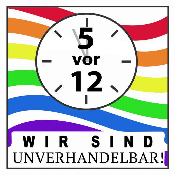 DUGay beteiligt sich am bundesweiten Aktionstag zur Bundestagswahl: Wir sind unverhandelbar!