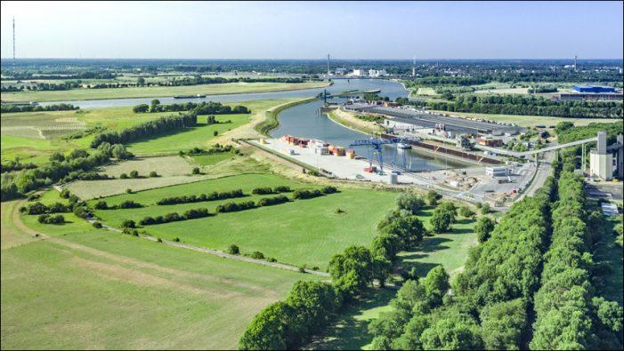 Weseler Hafenverbund DeltaPort: Wichtiger Planungsabschnitt  im Hafen Emmelsum erreicht