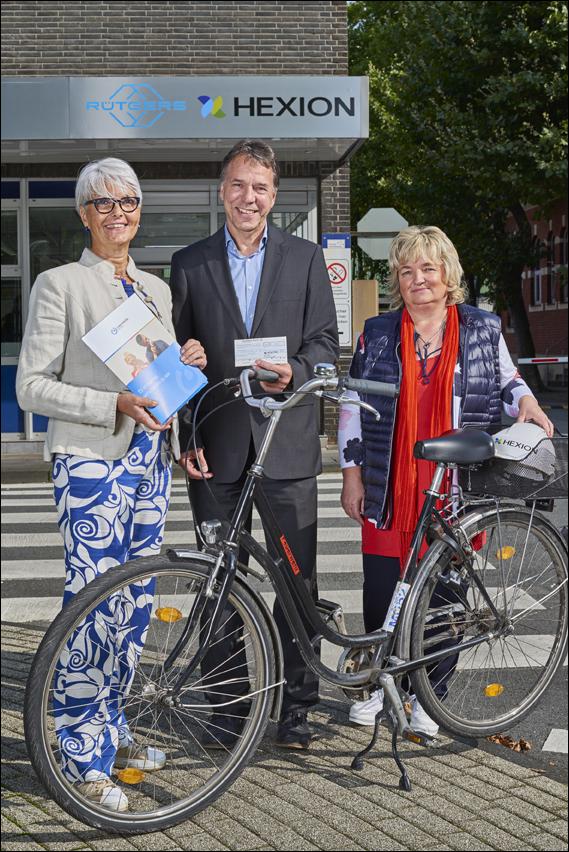 Hexion unterstützt die Arbeit der Lebenshilfe Duisburg mit einer Spende in Höhe von 1.400 Euro