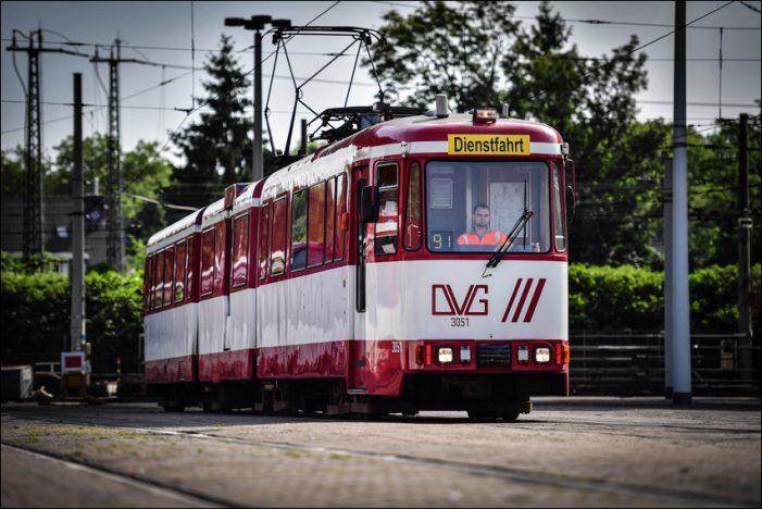 Duisburger Verkehrsgesellschaft: Wie die DVG mit 200 Tonnen Sand für Sicherheit sorgt