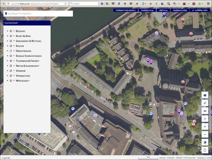 Geschichte auf einen Blick: Das Historische GEO-Portal der Stadt Duisburg geht online