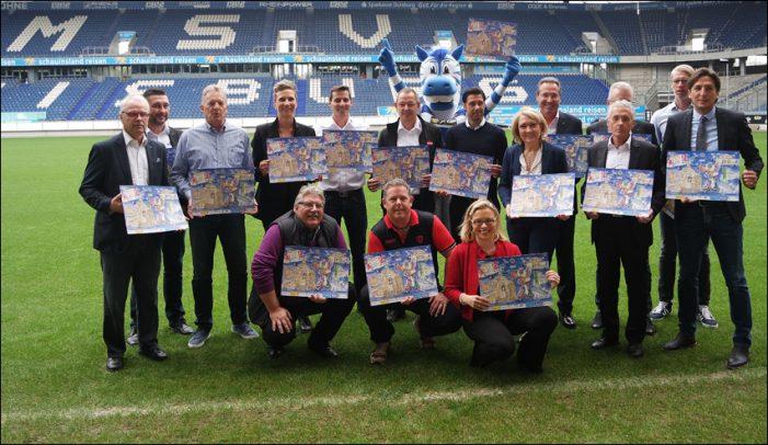 Lions Club Duisburg-Concordia: Präsentation des Sport-Adventskalenders in der Schauinsland-Reisen-Arena