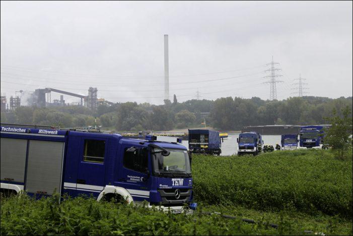 THW Duisburg: Große Hochwasserschutz-Übung