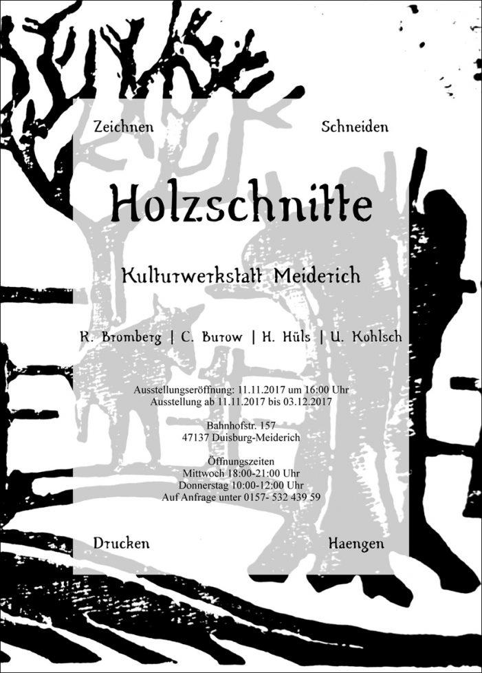 """Kulturwerkstatt Duisburg-Meiderich: Vernissage der Ausstellung """"Holzschnitte"""""""