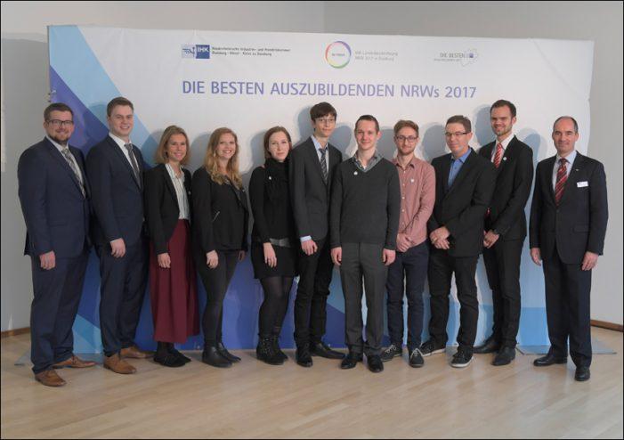 """IHK-Landesbestenehrung NRW in Duisburg: Berufsausbildung mit """"Sehr gut"""" abgeschlossen"""