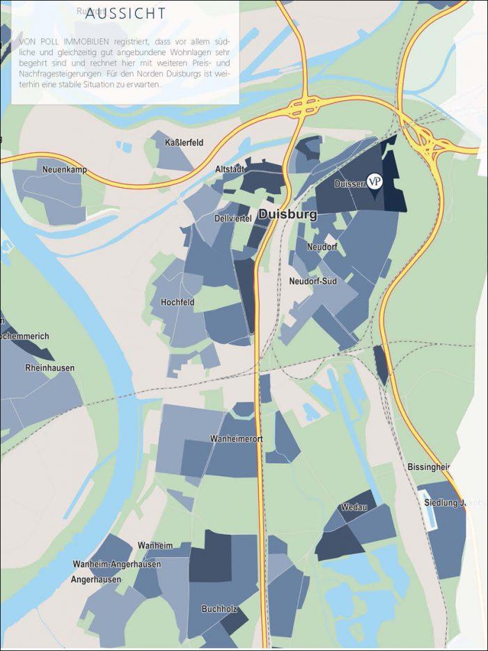 Markt für Wohnimmobilien: Weiterhin steigende Nachfrage in Duisburg