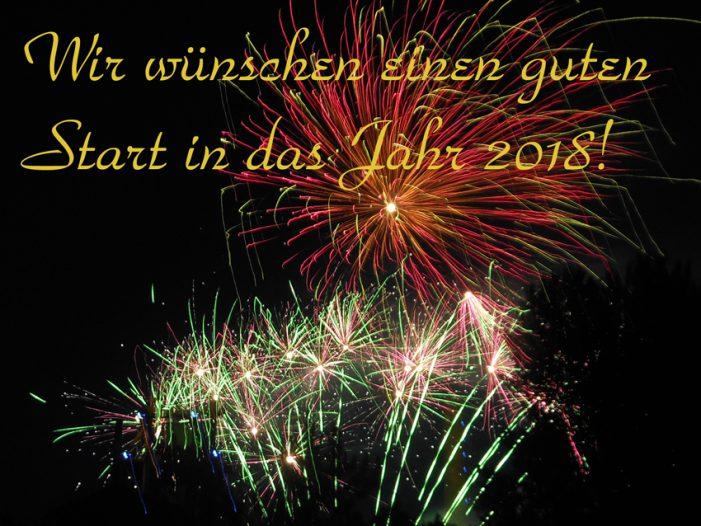 Wir wünschen unseren Lesern einen guten Start in das Jahr 2018!
