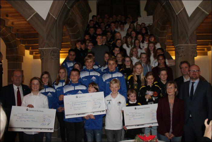 Stadtsportbund Duisburg: Ehrungen der Jugendsport-Stiftung