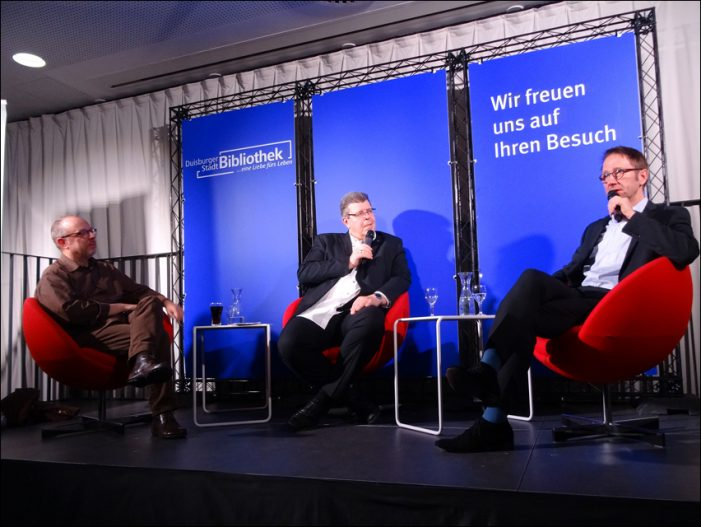 Talkshow Duisburger Journalisten: Thomas Münten im Gespräch mit Tom Hegermann und Uwe Schulz