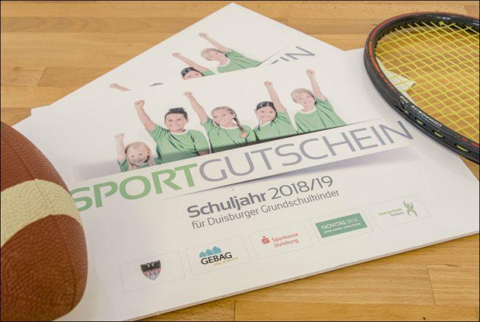 Sportgutscheine bringen 4.00 Erstklässler in Duisburg chnupper-Mitgliedschaft an den Start