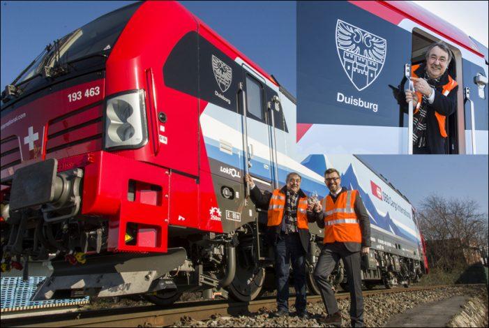 "SBB Cargo: Vectron-Lokomotive auf den Namen ""Duisburg"" getauft"