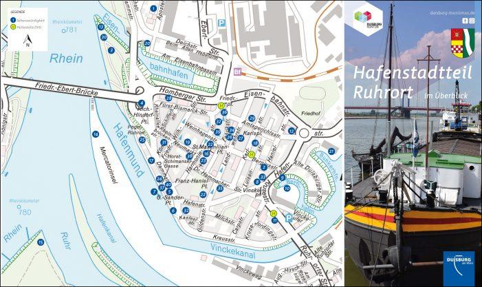 """Vierzig gute Gründe: Duisburg Kontor und Partner stellen neue Hotspot-Karte """"Hafenstadtteil Ruhrort"""" vor"""