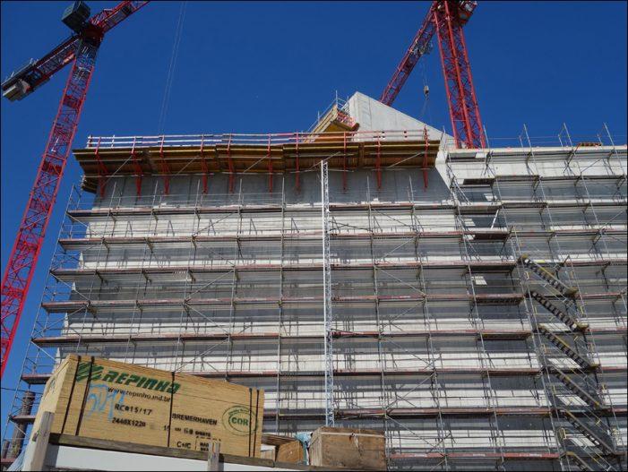 Rohbau in Duisburg steht: Erweiterungsbau des MKM Museum Küppersmühle plant Eröffnung Ende 2019
