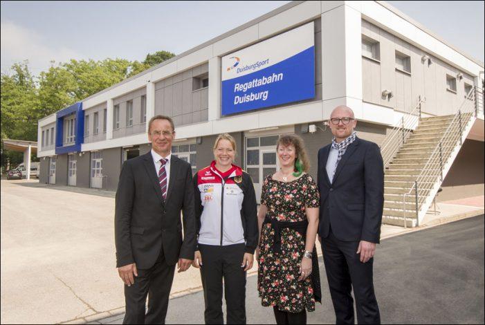 Neustart an der Regattabahn in Duisburg: Modernisiertes Leistungszentrum Kanurennsport eingeweiht