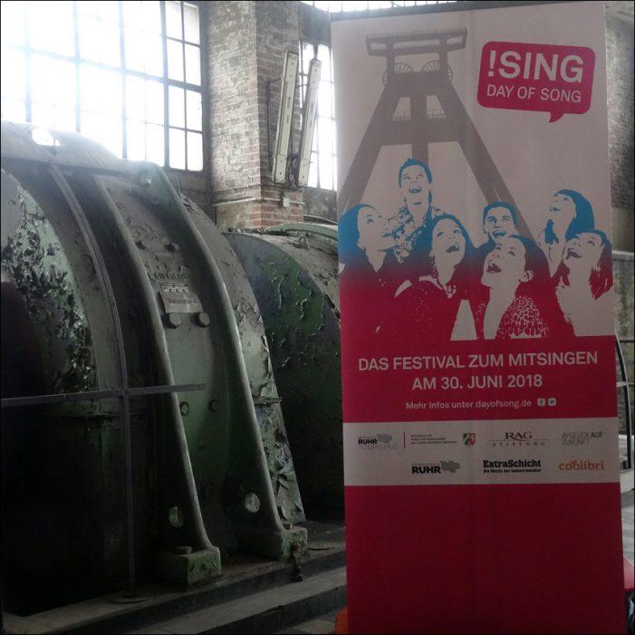 !SING – Day of Song lädt in beeindruckender Industriekulisse zum Mitsingen ein: Maschinenhalle Pattberg in Moers