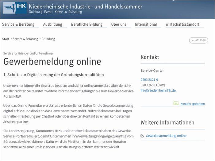 Gewerbeanmeldung in Duisburg nun online möglich: Erster Schritt zur Digitalisierung der Gründungsformalitäten