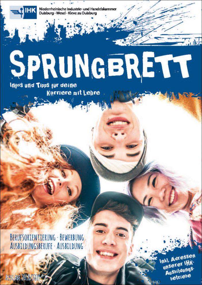 """Niederrheinische IHK fördert Karriere mit Lehre: Broschüre """"Sprungbrett"""" erschienen"""