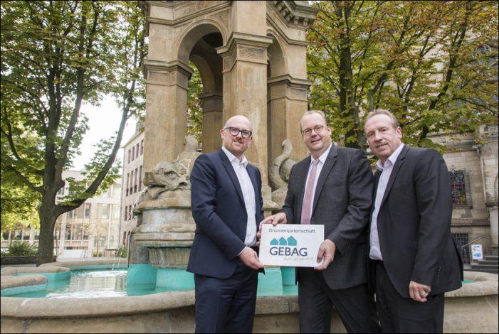 GEBAG übernimmt Patenschaft für den Mercator-Brunnen vor dem Duisburger Rathaus