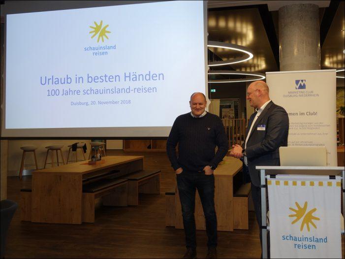 Marketing-Club Duisburg-Niederrhein informierte sich bei schauinsland-reisen