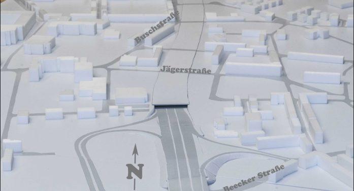 Chance für Duisburg beim Ausbau der A 59: Stadt präsentiert Modell und Broschüre zu den Ausbauvarianten