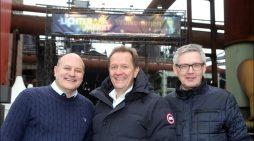 Landschaftspark Duisburg-Nord: Aufbau für den 4. schauinsland-reisen Lichtermarkt läuft auf Hochtouren