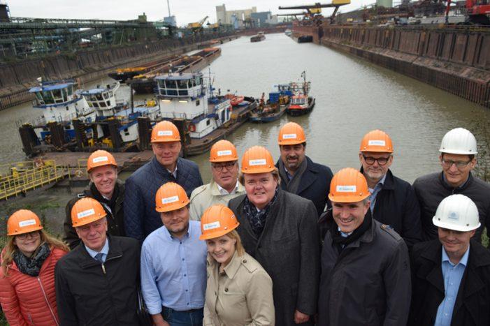 Landespolitiker im Gespräch mit Vertretern der Schifferbörse: Stärkung der Wasserstraße gefordert