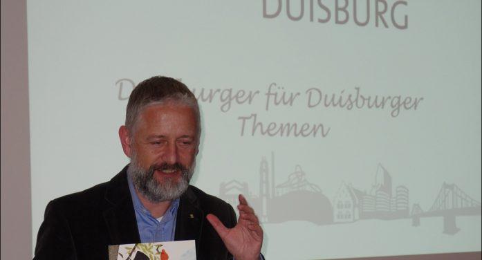 Marketing-Club Duisburg-Niederrhein: Vorstand Jörg Löbe informierte über die Bürgerstiftung