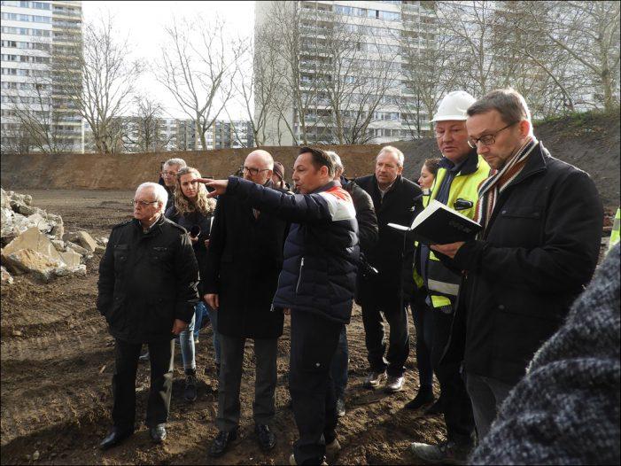 Duisburg-Homberg: Sprengvorbereitungen laufen auf Hochtouren im Weißen Riesen in Hochheide