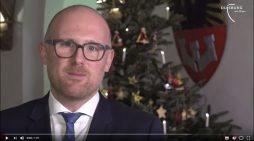 Weihnachtsgruß 2018 von Duisburgs Oberbürgermeister Sören Link
