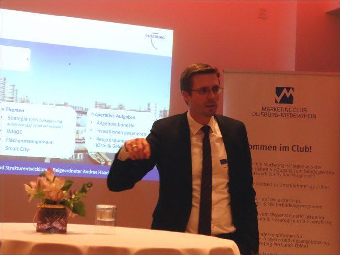 Marketing-Club Duisburg-Niederrhein: Dezernent Andree Haack sprach über den Wirtschaftsstandort