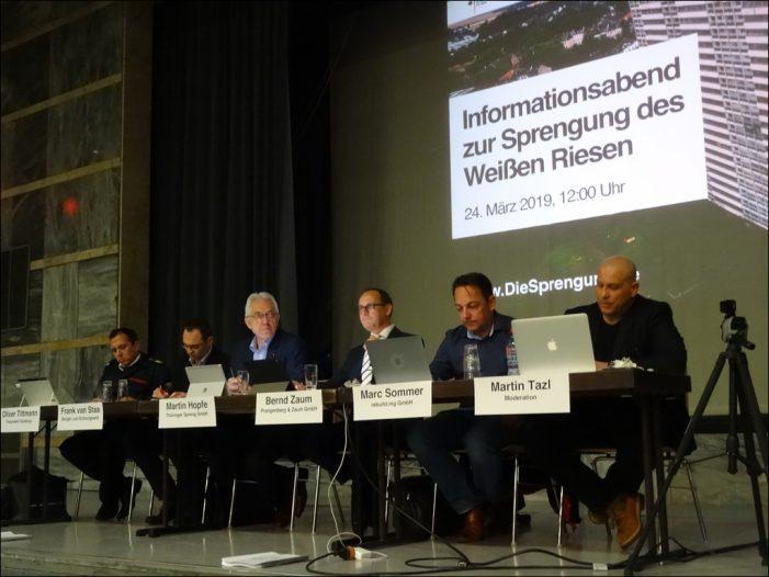 Duisburg: Bürger-Info zur Sprengung des Weißen Riesen in Hochheide in der Glückauf-Halle