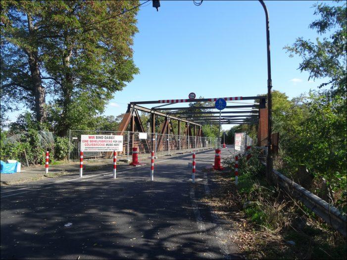 Duisburg / Moers: Keine Behelfsbrücke An der Cölve, dafür zügige Gebietsübertragung