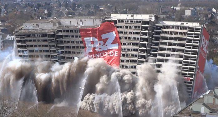 Duisburg-Homberg: Erste Sprengung eines Weißen Riesen in Hochheide
