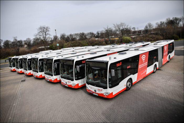 ÖPNV in Duisburg: Neue DVG-Busse mit WLAN und modernem Innendesign unterwegs