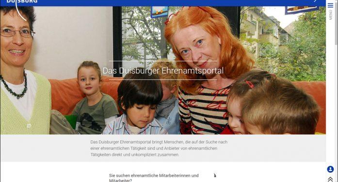 Duisburger Ehrenamtsportal erfolgreich gestartet