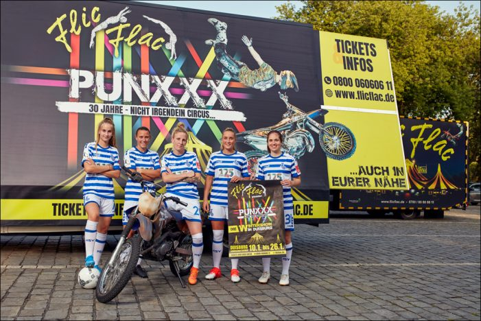 Flic Flac unterstützt den Frauenfußball des MSV Duisburg