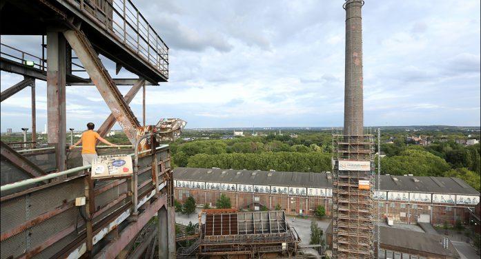 Startschuss für zweite Renovierungsphase am Kamin im Landschaftspark Duisburg-Nord