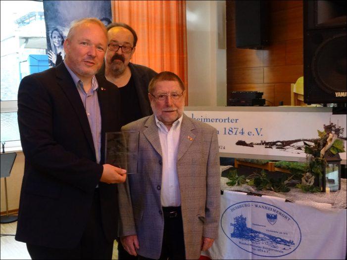 Wanheimerorter Bürgerverein ehrt Günter Zirbi mit dem Bürgerpreis