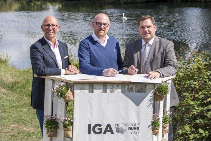 Zur IGA wird das untere Ruhrtal interkommunal präsentiert: Oberbürgermeister vereinbaren Zusammenarbeit an der Ruhr