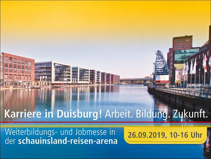 Karriere in Duisburg: Weiterbildungs- und Jobmesse am 26. September